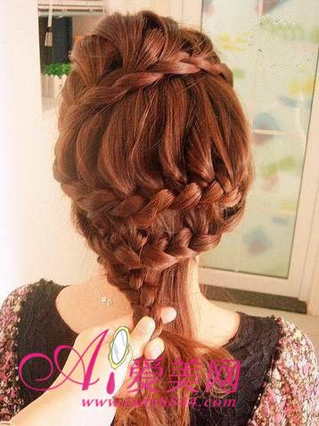 韩式发型扎法 diy公主造型轻松学