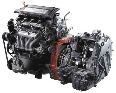图为本田油电混合思域的发动机