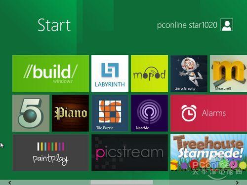 图27 Windows 8新操作界面(屏幕可左右拖动以显示更多内容)