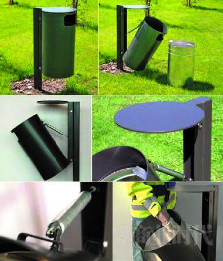 创意公共垃圾桶,多一环设计减麻烦