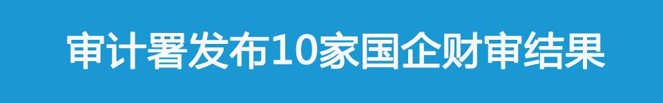 审计署发布中国移动通信集团公司,中国储备粮管理总公司等10家国企