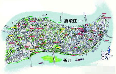 q版手绘城市建筑