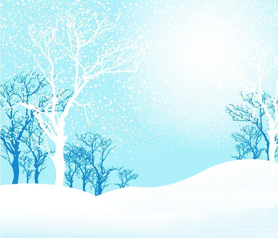 天空下雪简笔画